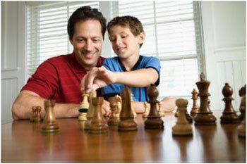 Father and son- your family law attorney can help you with paternity questions.
