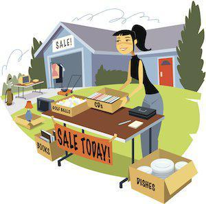 divorce yard sale, garage sale, property division, divorce, Illinois divorce lawyer